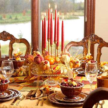 Candles on Thanksgiving by bhg