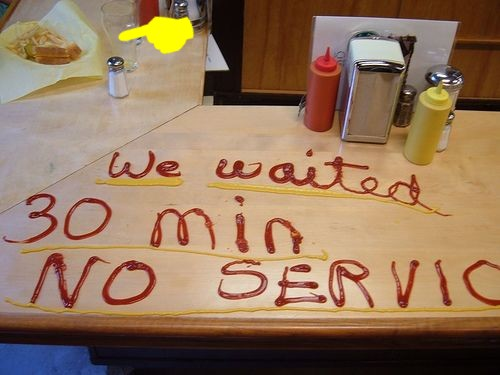 No service for 30 minutes reaction