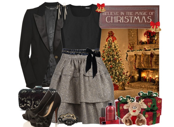 office christmas party dress and outfit