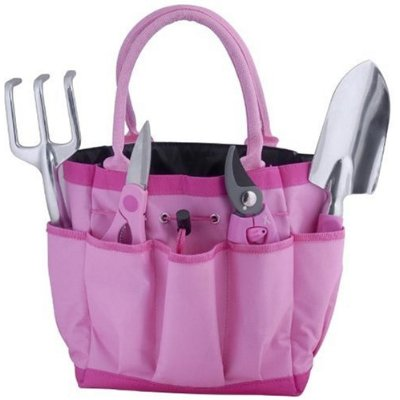 Bond 6930 Pink 5 Piece Garden Tool Bag Gift Set
