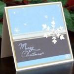 Handmade Falling Snow Christmas Card