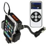 LCD Screen Display New FM Transmitter Car charger Holder Car Mount For Iphone