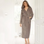 Mink Velour Hooded Robe