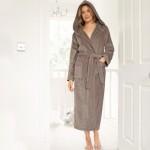 Mink Velour Hooded Robe