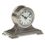 Small Pewter-Finished Desk Clock