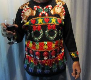 christmas sweater ugly with numerous different details