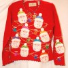 ugly christmas sweater red with santa images