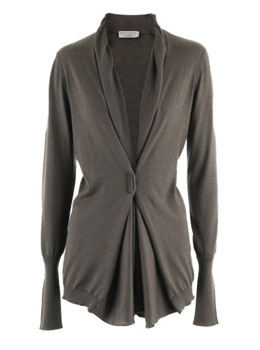 BRUNELLO CUCINELLI | Brown Cashmere Cardigan Leece