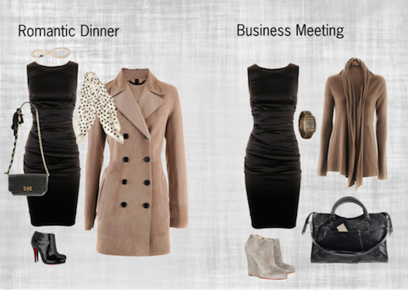 Black Dress - Romantic Dinner V Business Meeting / Look Photo Example