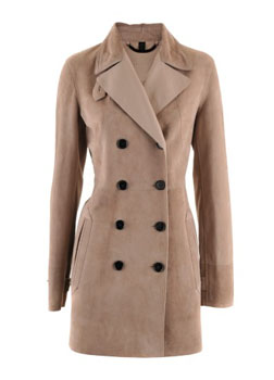 Burberry Prorsum | Pale Mink Velours Coat image example