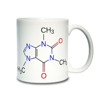 Caffeine Molecule Diagram Coffee Mug