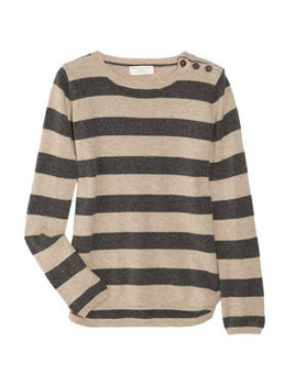 Chinti and Parker | Striped cashmere sweater | NET-A-PORTER.COM