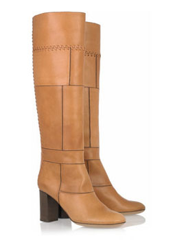 Chloé | Stitched leather knee boots | Photo Example