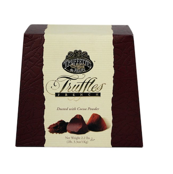 Chocmod Truffettes de France Natural Truffles, Plain, 1000-Gram Boxes