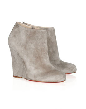 Christian Louboutin | Belle Zeppa 100 suede ankle boots | Photo Example