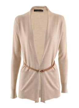 Fabiana Filippi | Sand Belted Cashmere Silk Cardigan