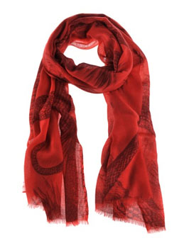 Friendly Hunting | Red Garden Eden Scarf