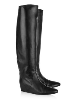 Lanvin | Crinkled-leather knee boots | photo examples