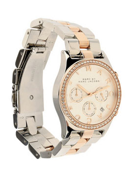Marc by Marc Jacobs | Henry crystal-embellished rose gold-plated watch |
