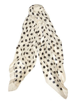 Marc by Marc Jacobs | Hot Dot printed cashmere and silk-blend scarf | photo example