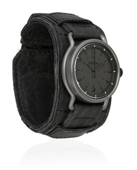 Nixon | The Axe leather and stainless steel watch |