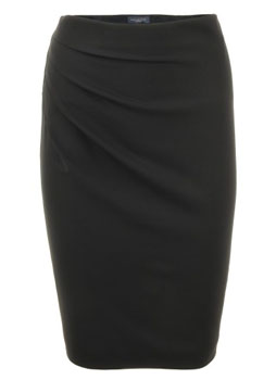 Piazza Sempione | Black Wool Skirt Penny