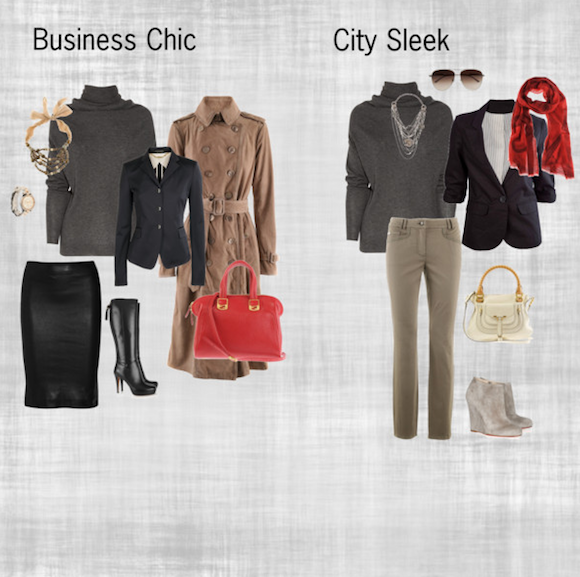 Turtleneck Pullover Business V City - Look Image Example