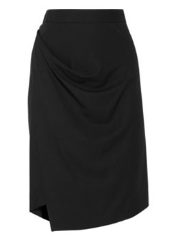 Vivienne Westwood Anglomania | New Accident draped twill pencil skirt | NET-A-PORTER.COM