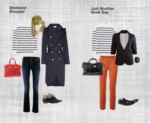 Striped Pullover - Weekend Shopper V Office / Look Image Example