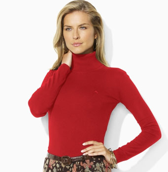 Zoe Silk-Cashmere Turtleneck - Turtlenecks Sweaters - Ralph Lauren UK