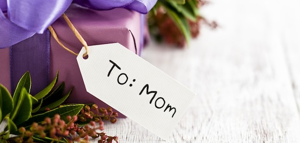 to mom on Mother's Day