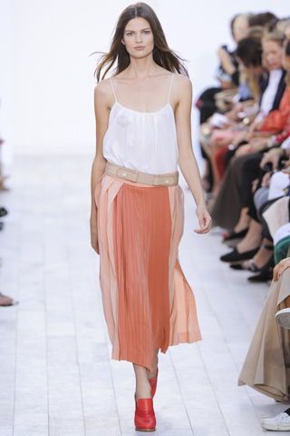 Chloe pleated skirt 2012