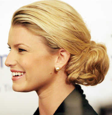 Business Professional Hairstyle Low Chignon via schwarzkopf.com