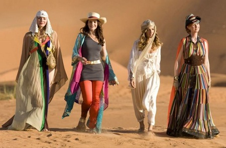 girls from sex and the city 2 movie in middle east