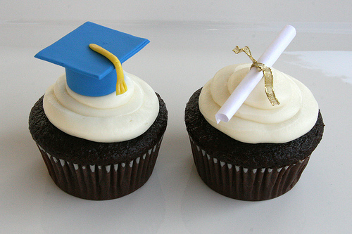 grad party cupcakes