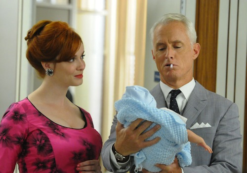 Baby in the office - via Mad Men