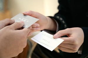business cards exchange etiquette tips