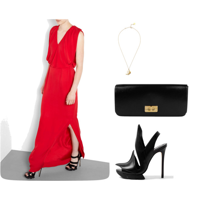Office Christmas Party 2012 -Raoul Silk Georgette V Neck Wallis Gown