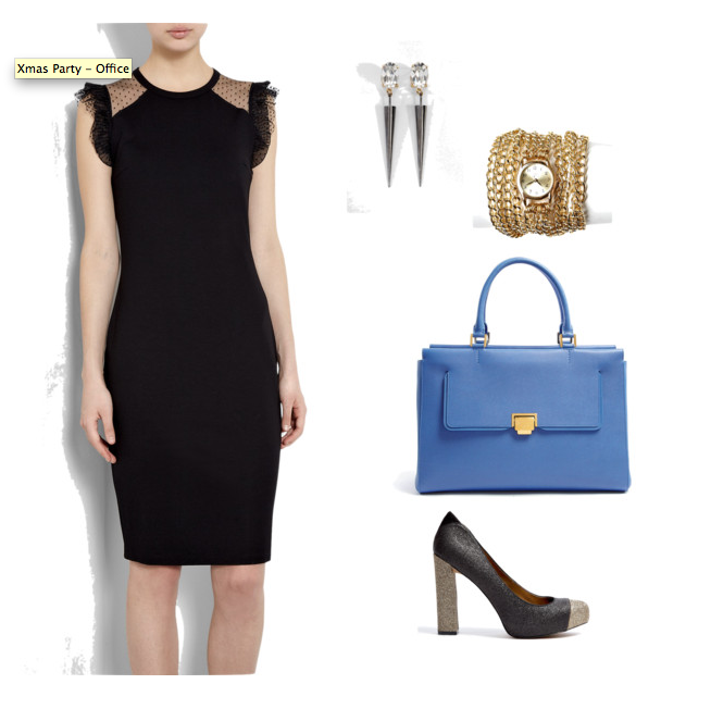 Office Christmas Party 2012 -Red Valentino Tulle Jersey Pencil Dress