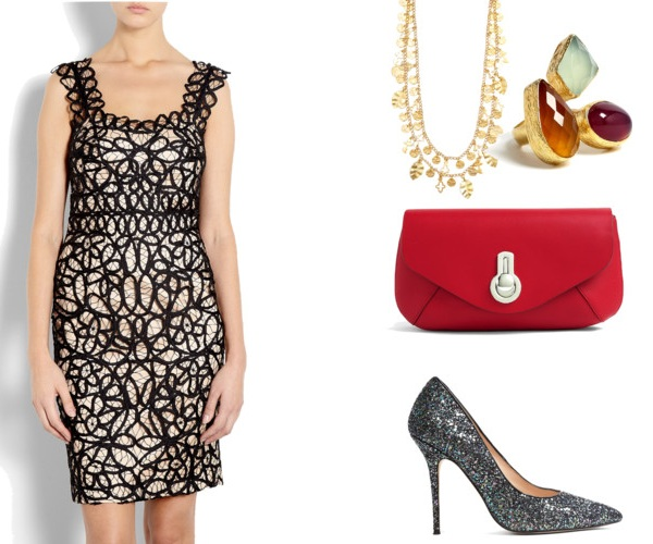 informal Christmas party outfit for women